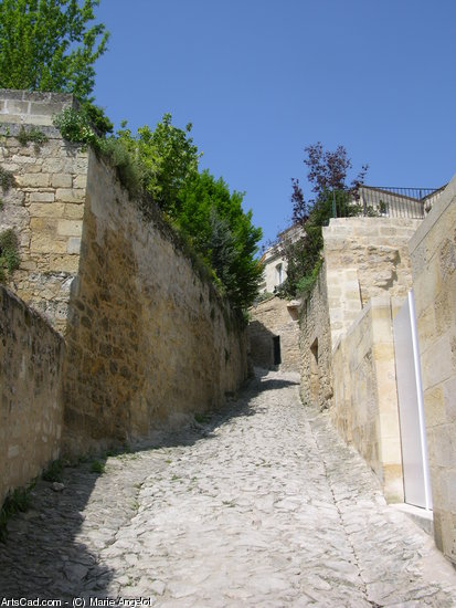 Artwork >> Marie Angelot >> Alley from st EMILION