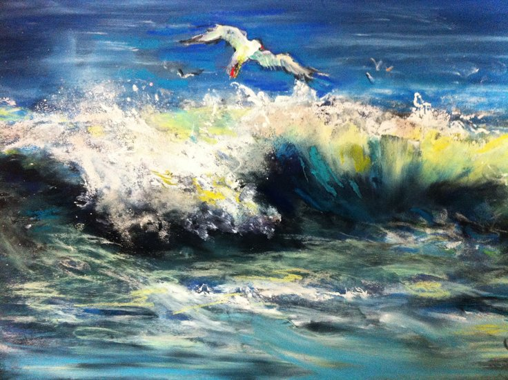 Artwork >> Inspirational Paintings >> Surfing Gull