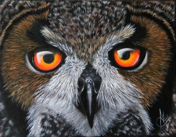 Artwork >> Chantal Rousselet >> Light of owl