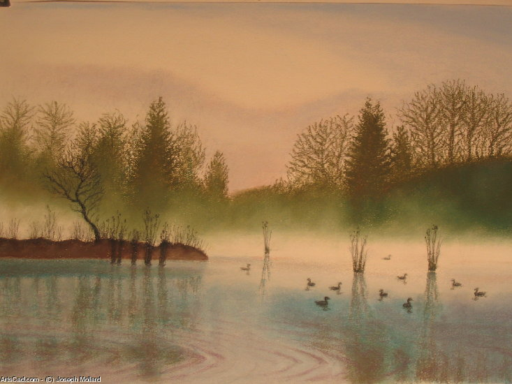 Artwork >> Joseph Mollard >> Ducks on l'étang