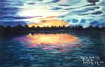 Ruth Miriam Da Natureza - nightfall at the  River  AMAZON