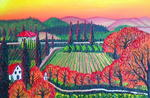 James E. Dunbar - Tuscany Wine Vineyard AT Sunset
