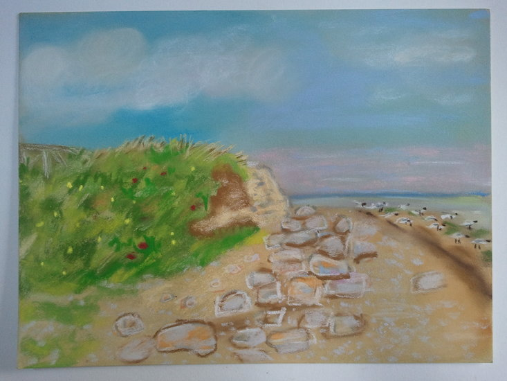 Artwork >> Pasqui R >> Falaise in Normandy morning
