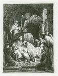 James Stow - Rembrandt -Presentation in the Temple- Original Etching