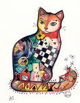 Oxana Zaika - cat gambler  SOLD.
