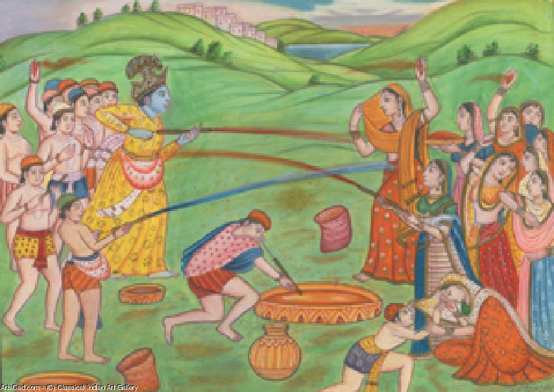 Artwork >> Classical Indian Art Gallery >> FESTIVAL OF COLOURS