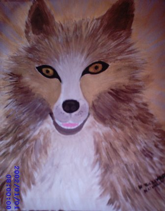 Artwork >> Breuvart Nathalie >> Wolf laughing