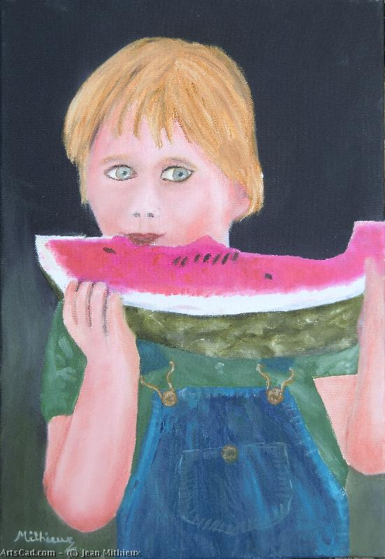 Artwork >> Jean Mithieux >> Watermelon eater