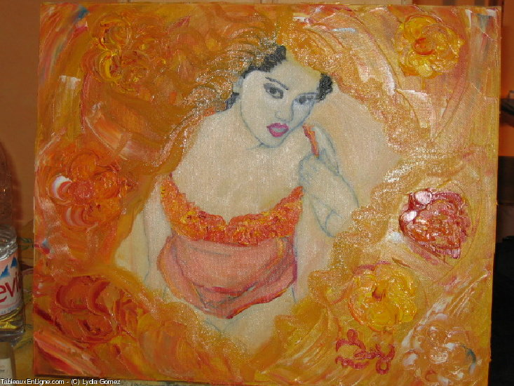 Artwork >> Lydia Gomez >> fifille orange