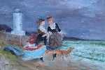 Jean Mithieux - At the seaside out the  lighthouse