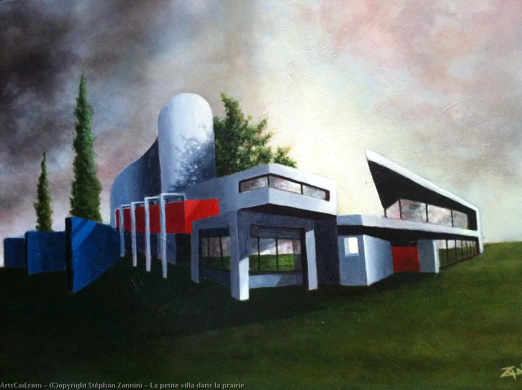 Artwork >> Stéphan Zannini >> the little villa in  place in  there  meadowland