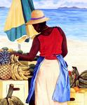 Antoine Molinero - Peintre - Caribbean - Triptych with 3 3
