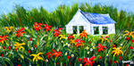 Leonard Shane - Cottage in a Field of Flowers