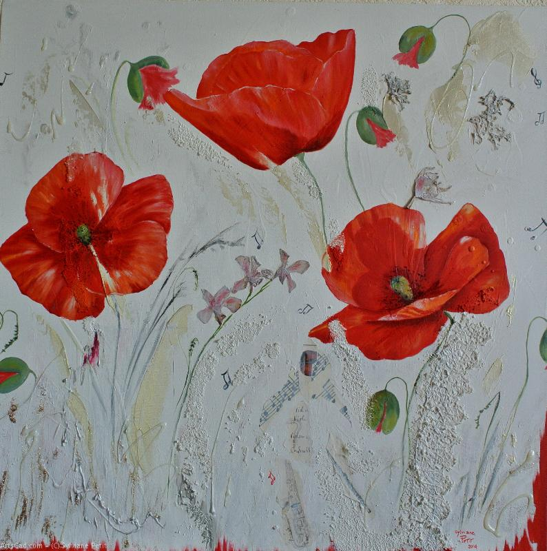 Artwork >> Sylviane Petit >> Poppies in - Serenade