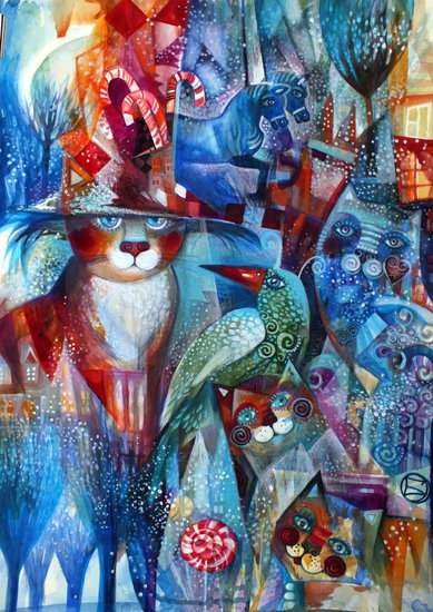 Artwork >> Oxana Zaika >> cats up in  December