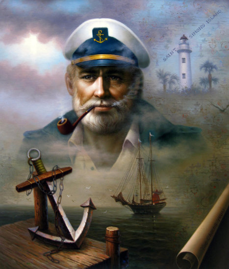 Artwork >> Yoo Choong Yeul Art >> St. Simons Island Sea Captain 2
