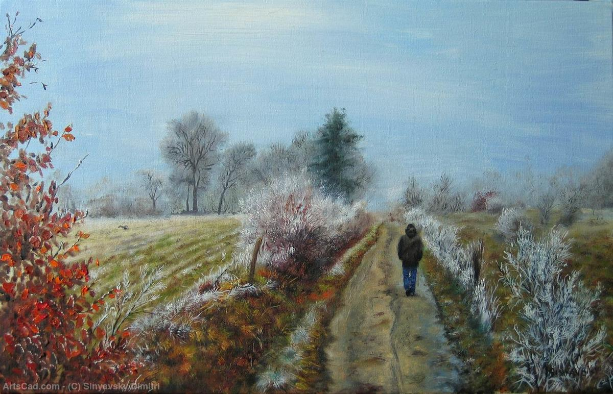 Artwork >> Sinyavsky Dimitri >> Walk in the frosty morning in the Ardèche