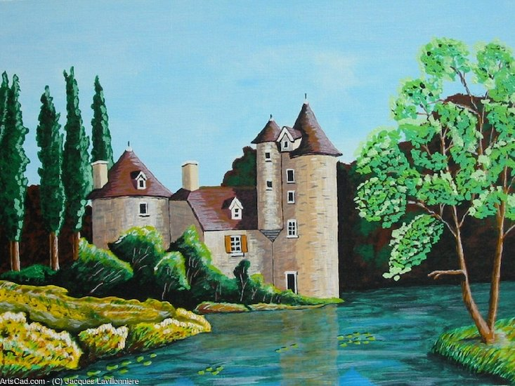 Artwork >> Jacques Lavillonniere >> The manor