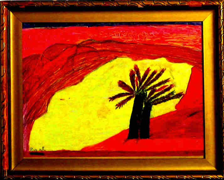 Artwork >> Raba Martinet >> In palm . - Happy here -