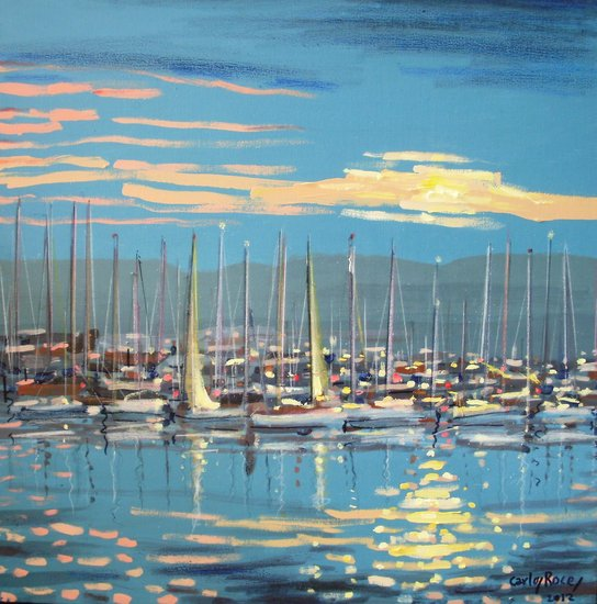 Artwork >> Carlos Roces >> Yachts with masts