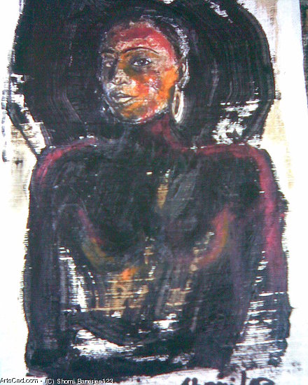 Artwork >> Shomi Banerjee123 >> tribal woman