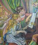 Volupté Naturelle - Maidens at the piano renoir