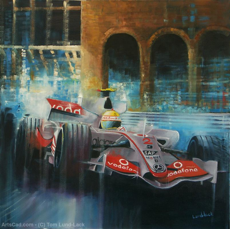 Artwork >> Tom Lund-Lack >>  2007 Monaco McLaren and Lewis Hamilton