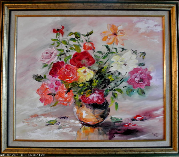 Artwork >> Sylviane Petit >> Roses September