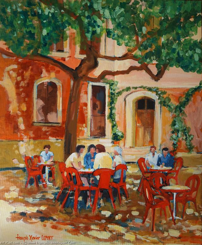 Artwork >> Francois-Xavier Lepont >> has the terrace  of the  caf