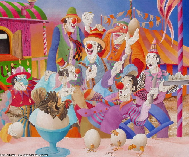 Artwork >> Jean Claude Buisson >> the meal of clowns