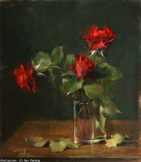 Artwork >> Alex Painting >> red roses