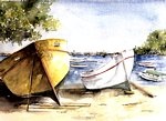 Marie-Claire Houmeau - Boats on the beach great BAIE