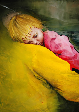 Artwork >> Pia Distefano >> Resting on Yellow Mountain