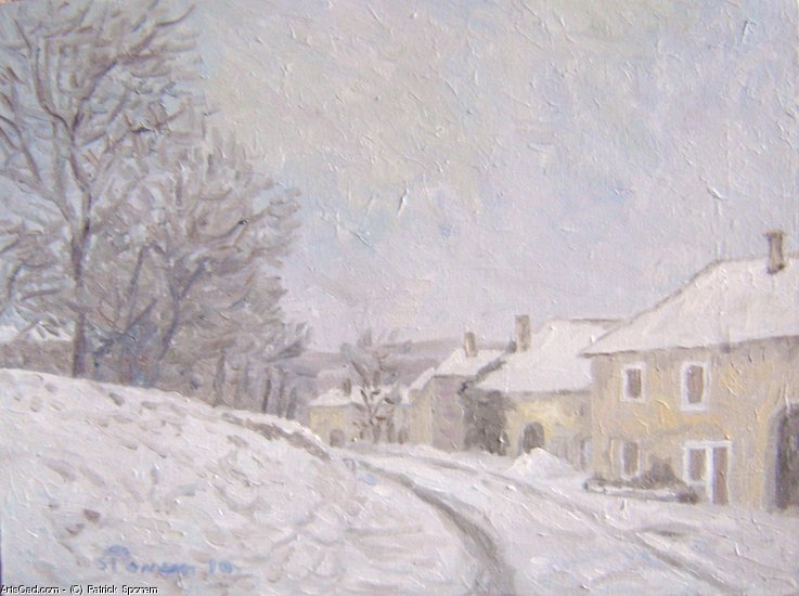 Artwork >> Patrick Sponem >> Low snowy street