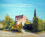 Michel Guioton - out the Farmhouse in Provence  Provencal