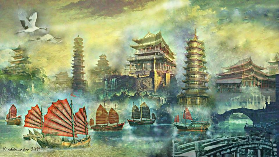 Artwork >> Kiddolucas Lee >> An Ancient City of Yinyang * 2019 Kiddolucaslee