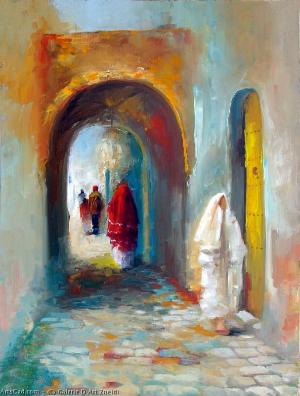 Artwork >> Galerie D Art Zneidi >> The doors from  there  medina