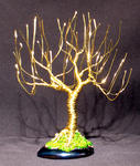 Sal Villano Wire Tree Sculpture - UPRIGHT WILLOW - Mini Wire Tree Sculpture