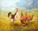 Alain Benedetto - Cock and Hens
