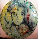 Evangile Papavassiliou - stained glass portrait