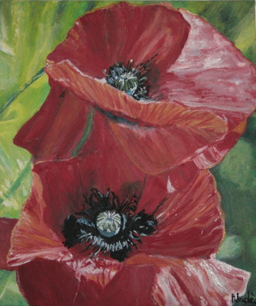 Artwork >> Volupté Naturelle >> Poppies in