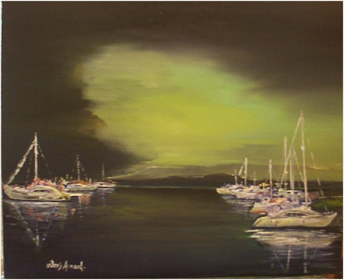 Artwork >> Denis Armand >> Night d'Orage