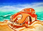 Loraine Yaffe - Old Volkswagen with Shadow (VW)