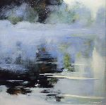 Pierre Vanmansart - Mist on out the  lake in