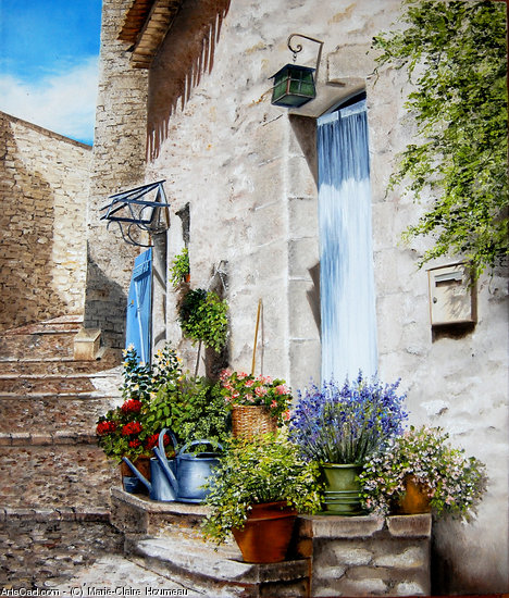 Artwork >> Marie-Claire Houmeau >> Alley FUVEAU in provence