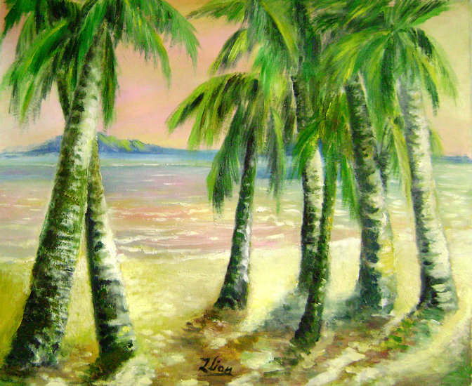 Artwork >> Zhen Lianxiu >> palm tree romances