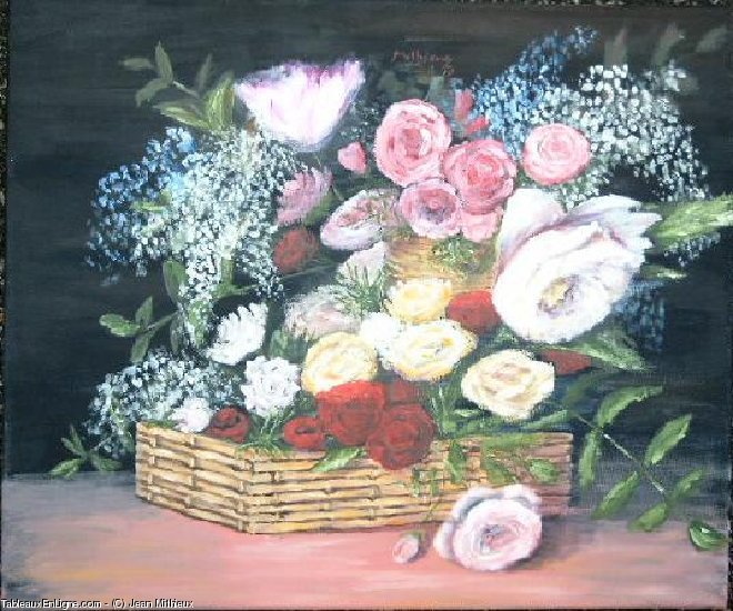Artwork >> Jean Mithieux >> basket from  flowers that