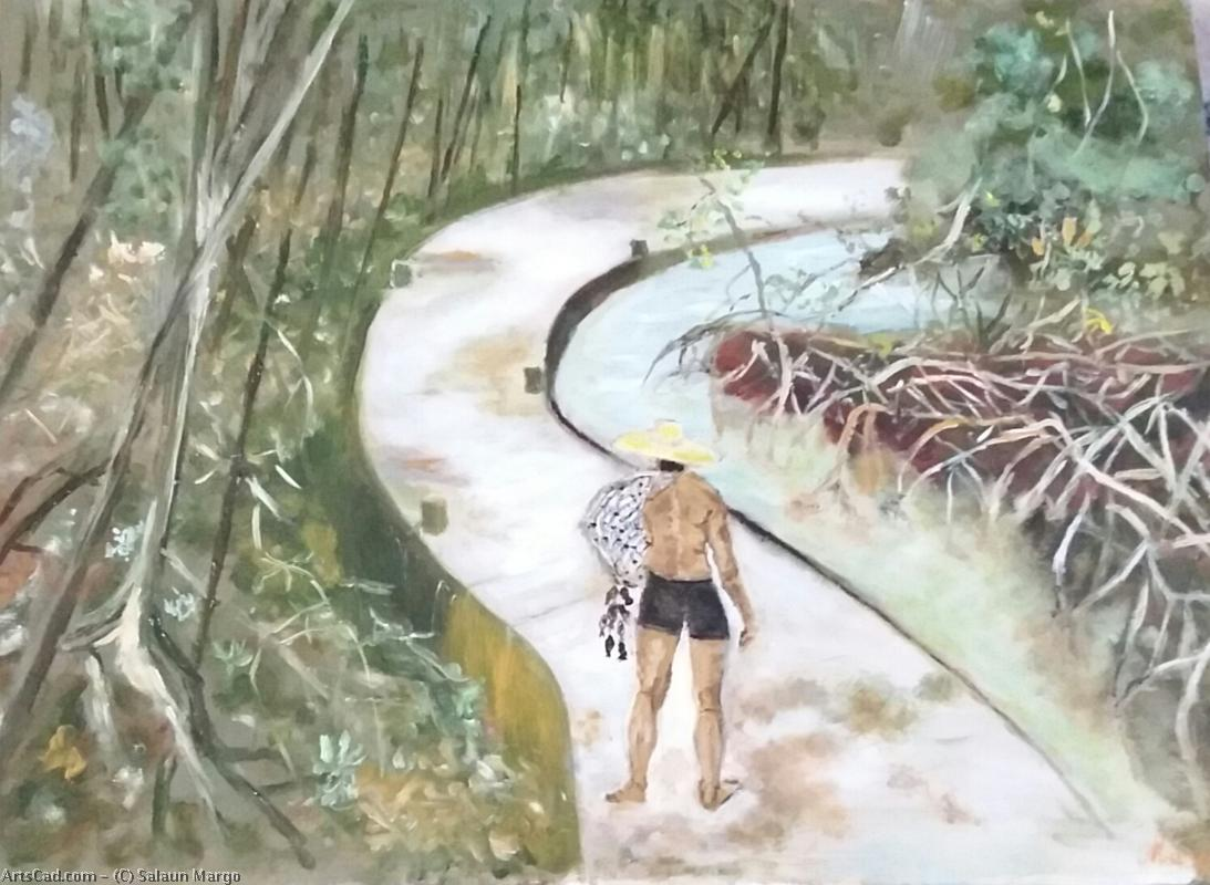 Artwork >> Salaun Margo >> The angler in the mangrove swamp in guadeloupe