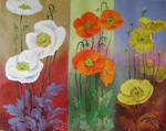 Zhen Lianxiu - poppies trio