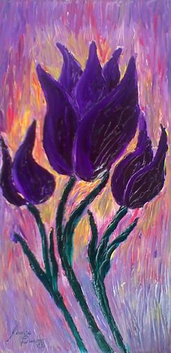 Artwork >> James E. Dunbar >> Blazing Purple Tulips